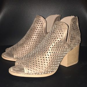 Quipid Perforated Faux Leather Booties
